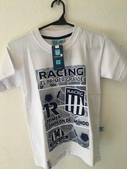 Remera De Racing Niño Con Licencia Oficial