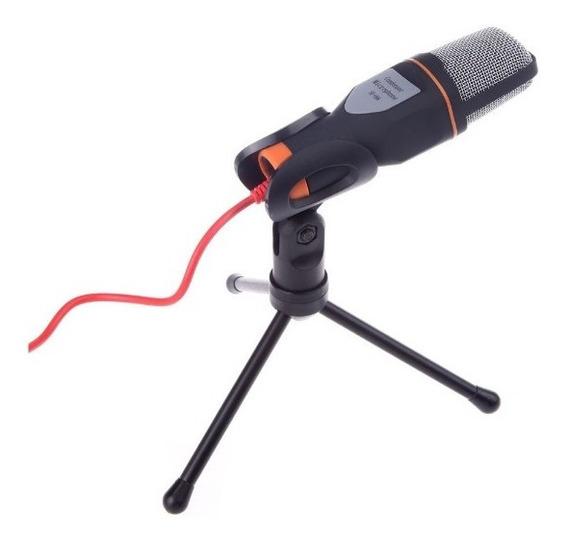 Microfone Condensador Pc Notebook Com Tripé Youtube Skype