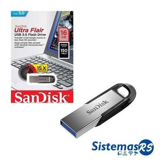 Pendrive Sandisk 16gb Ultra Flair Usb 3.0 150mb/s