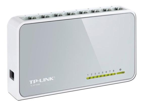 Switch 8 Puertos Tp Link 10/100 Tlsf1008d Gtia 1 Año Bagc