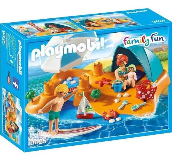 Playmobil 9425 Family Fun Familia En La Playa Original Intek