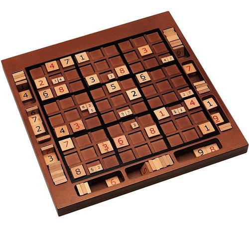 We Games Tablero De Madera Para Sudoku Con Ranuras De Alm...