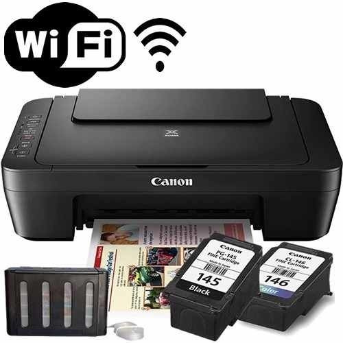 Impressora Multifuncional Wireless + Bulk Ink Mg3010 Canon
