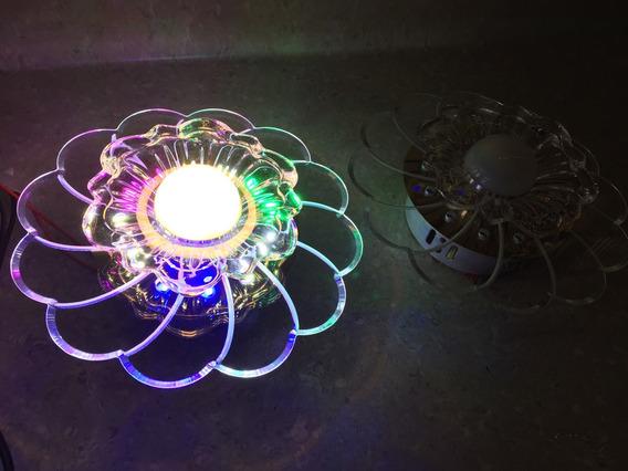 Linda Flor Led 5watt Centro + 12 Led Luminária Bi-volt