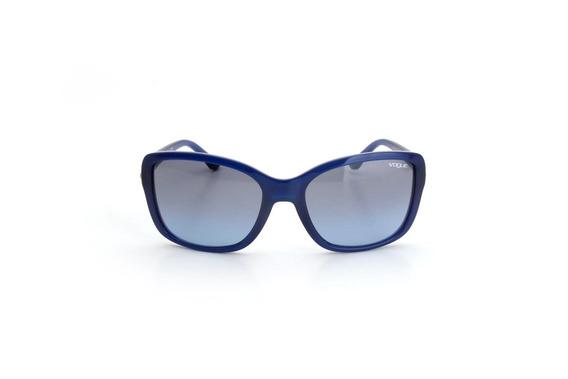 Oculos De Sol Feminino Vogue Acetato Gatinho Azul - Cor Azul