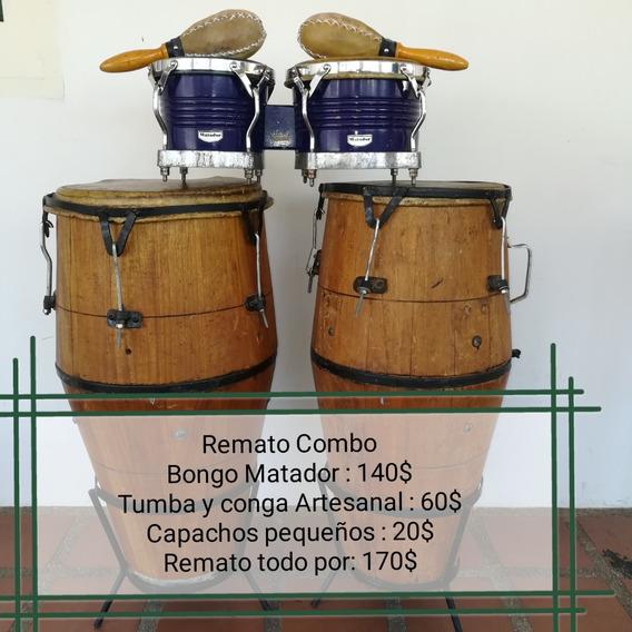 Vento Combobongo Rematador, Tumbadoras Artesanal Y Maracas