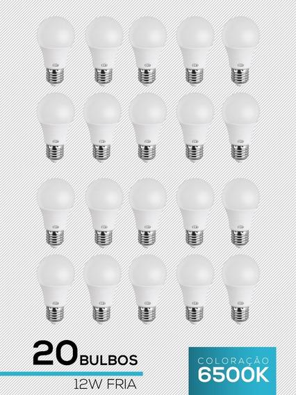 Kit 20 Lampadas Led 12w Bulbo Branca Fria L&d 6500k Promoção