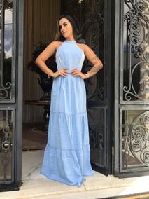 Vestido Sereia Longo Jeans Evangélico