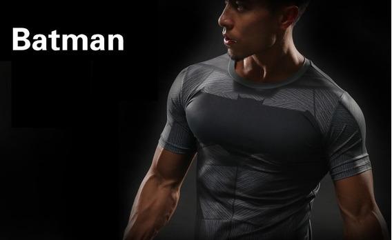 Camisa Compressao Marvel Batman Liga Justiça Marvel Bat Man
