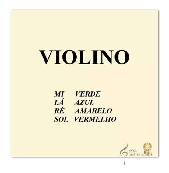 Jogo Cordas Violino Mauro Calixto 1/2 - 1/4 Ou 1/8