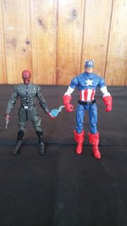 Lote X2 Figuras Capitan America & Red Skull Marvel Universe