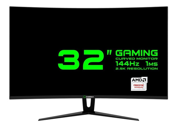 Monitor Gamer Gamemax 32 Curvo 2.5k (2560x 1440), 144hz 1ms