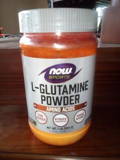 Suplemento L Glutamina Now Importada