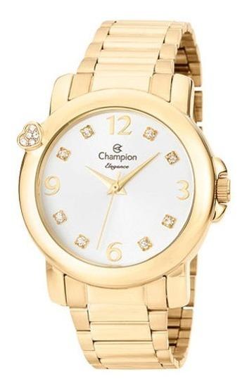 Relógio Champion Elegance Dourado Coração Cn27161h
