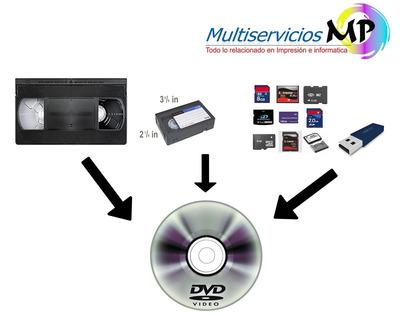 Se Pasan Casete De Vhs, Vhsc, Hi8, Mini Dv A Dvd