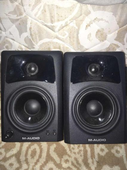 Monitores De Áudio M-audio Av42 - Usado Em Ótimo Estado