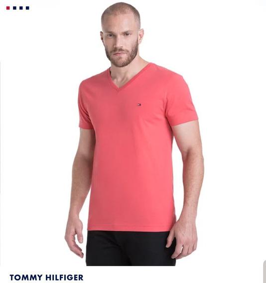 Camiseta Tommy Hilfiger Wcc Essential Cotton V-neck (823)