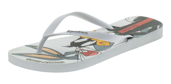 Chinelo Feminino Looney Tunes Ipanema - 26433 Branco