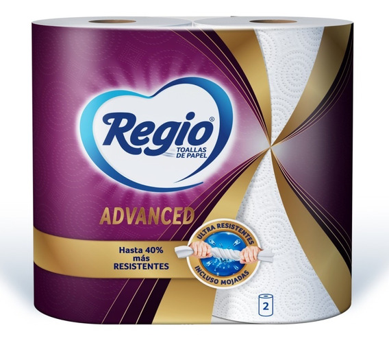 Toallas De Papel Regio Advanced 2 Rollos