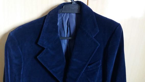 Paletó Azul Marinho Escuro Veludo Alemão Usado Tamanho G