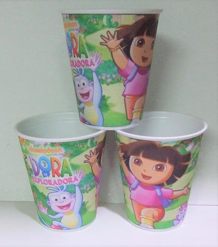 Imagen 1 de 6 de Vasos Dora, La Exploradora, Plasticos Descartables!!!!