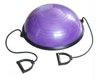 Meia Bola Pilates E Yoga + Corda Puxador Wct Fitness 4030