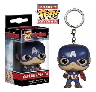 1 Llavero Funko Pop Nuevo Capitan America Captain Con Caja