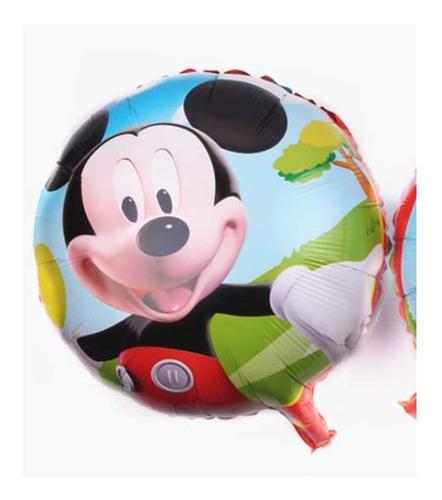 Imagen 1 de 1 de Paquete De 5 Globos Mickey Mouse 18 Pulgadas Fiesta Tematica
