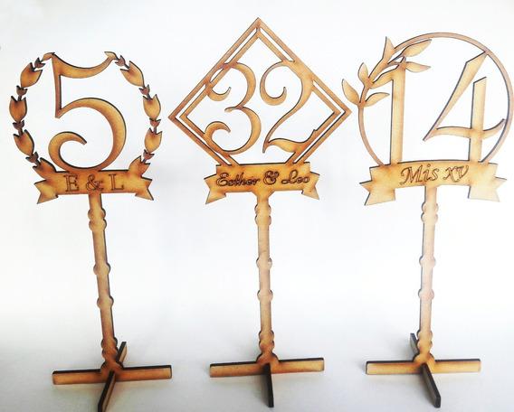 Letreros Numeros Mesa Personalizados Invitados Eventos
