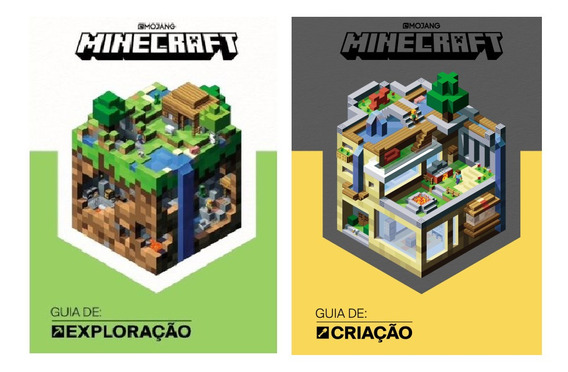 Kit 2 Livros Minecraft Guia De Criação + Guia De Exploração