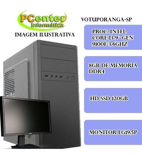 Pc Gamer I3 De Nona Geração , Ssd 120, C/monitor.