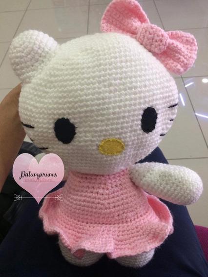Amigurumi - Hello Kitty Bailarina - a partir do padrão de Tejiendo ... | 568x426