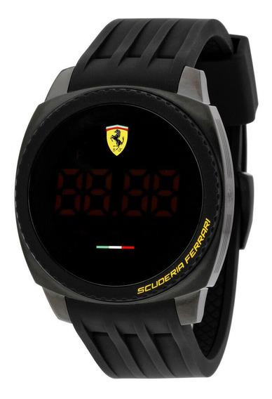 Relógio Masculino Ferrari 0830229 Pulseira De Silicone