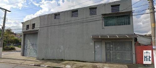 Galpão, 486 M² - Venda Por R$ 1.800.000,00 Ou Aluguel Por R$ 8.000,00/mês - Vila Nova Santa Luzia - Diadema/sp - Ga0071