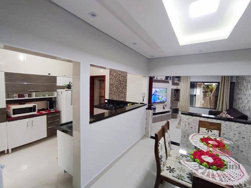 Casa Com 3 Dormitórios À Venda, 113 M² Por R$ 380.000,00 - Jardim Boer I - Americana/sp - Ca2847