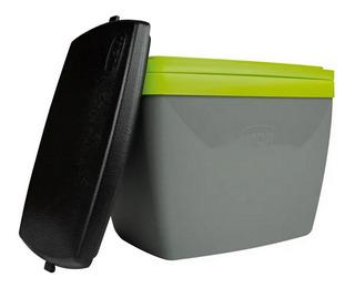 Caixa Térmica Pequena 6l Para Camping Cinza Com Verde Mor