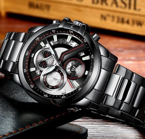 Relógio Masculino Cadisen C9016 Cronógrafos Skone Pulso