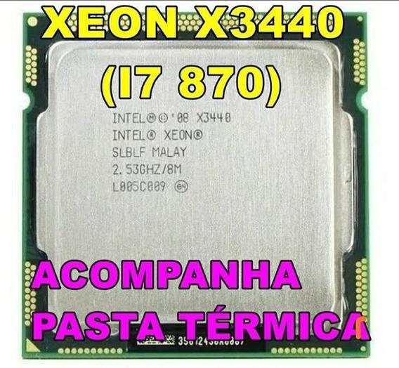 Intel Xeon X3440 = I7 870 2.53ghz Lga 1156 + Pasta Térmica