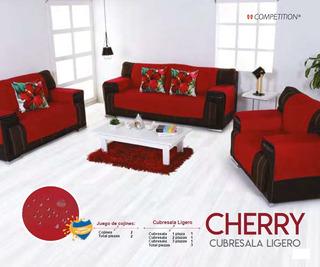 Juego Cubre Sala Ligero 3 Piezas Anti-manchas Cherry Compe