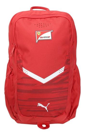 Mochila Puma Scuderia Ferrari Fanwear - Vermelho E Preto