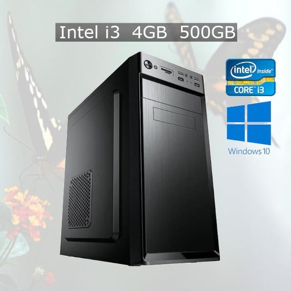 Pc Desktop Windows 10 Home Intel I3 4gb Hd 500gb + Nf