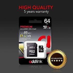 Cartão Memória Micro Sd 64gb Premium 85mb/s 4k Addlink 10