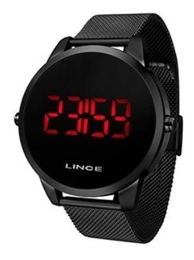 Relógio Lince Led Preto Mdn4586l Pxpx
