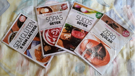 Coleção Revistas Leve Saúde Receitas Avon 4 Fascículos