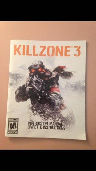 Killzone 3 Ps3 Só O Manual Original R$24,99
