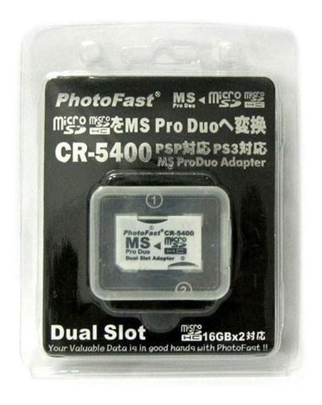 Adaptador Doble Micro Sd A Memory Stick Pro Duo Photofast