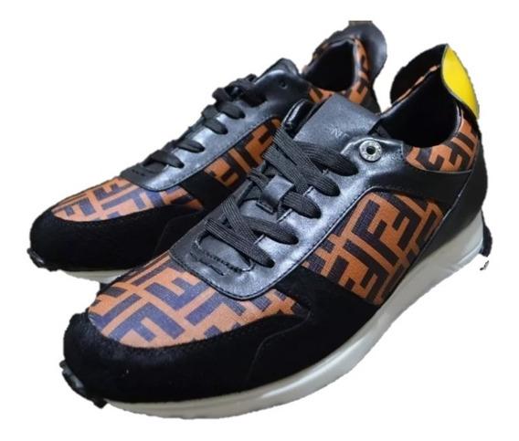 Sneakers Tenis Fendi Ff Clásicos Envío Gratis