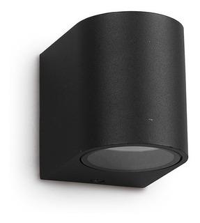 Luminaria Aplique Direccional Exterior Gu10 Negro Interelec