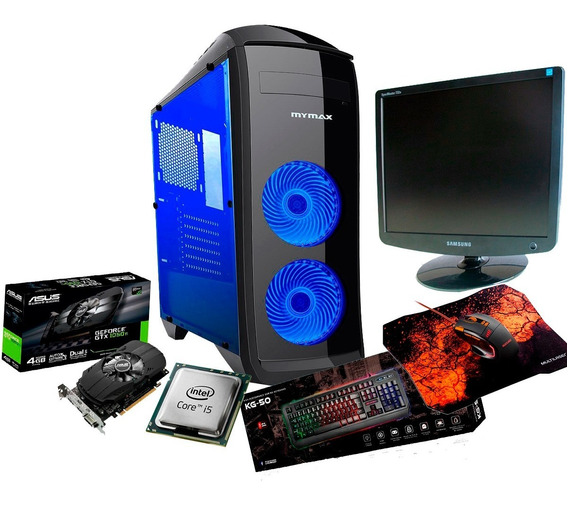 Pc Completo Gamer + Mouse + Teclado E Monitor 8gb Ram 1050ti