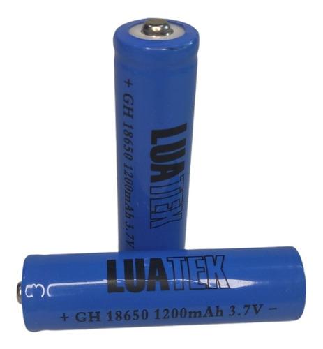 Imagem 1 de 2 de 2 Baterias 18650 Luatek Ni-mh 3.7v 1200mah Recarregável